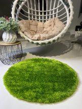 Prémium zöld kör shaggy szőnyeg 80cm