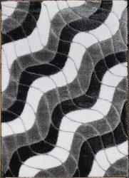 Hosszú Szálú Szőnyeg, Ber Seher 3D 2616 160X220Cm Fekete-Szürke Szőnyeg