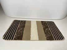 Fürdőszobai szőnyeg 1 részes - bézs csíkos-kagyló