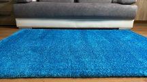 Prémium türkiz shaggy szőnyeg 160x220cm