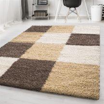 Ay life 1501 mokka 60x110cm - kockás shaggy szőnyeg