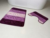 Fürdőszobai szőnyeg 2 részes - lila