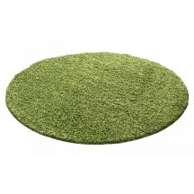 Ay life 1500 zöld 120cm egyszínű kör shaggy szőnyeg