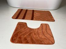 Fürdőszobai szőnyeg 2 részes - tégla