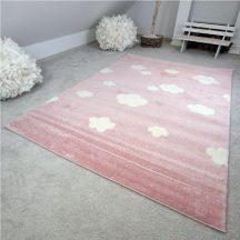 Gyerekszőnyeg akció, EPERKE 133x190cm felhős rózsaszín szőnyeg