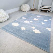 Gyerekszőnyeg akció, EPERKE 100x150cm felhős kék szőnyeg