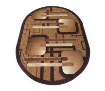 BCF Alfa 16 owalna - brązowa 200 x 300 cm