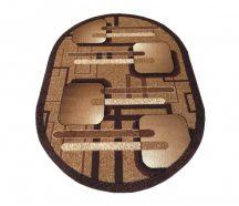 BCF Alfa 16 owalna - brązowa 80 x 150 cm